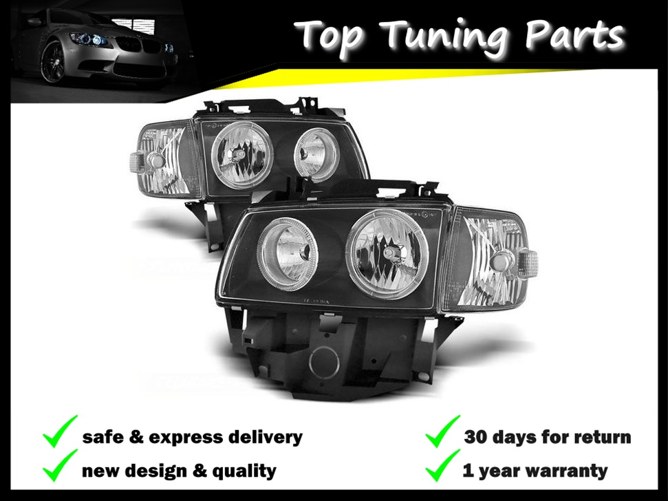HEADLIGHTS LPVW28 VW TRANSPORTER T4 BUS LONG NOSE 1996 1997 1998 1999 2000-2003